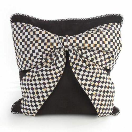 MacKenzie Childs Bow Pillow Black # 75753-065