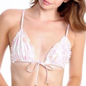 008ae18f9730a Image is loading Wildfox-Swim-String-Bikini-Ruffle-Front-Tie-Triangle-