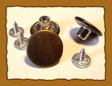 3 BOUTONS jean couleur bronze * 17 mm * button * facile à fixer easy 1,7 cm