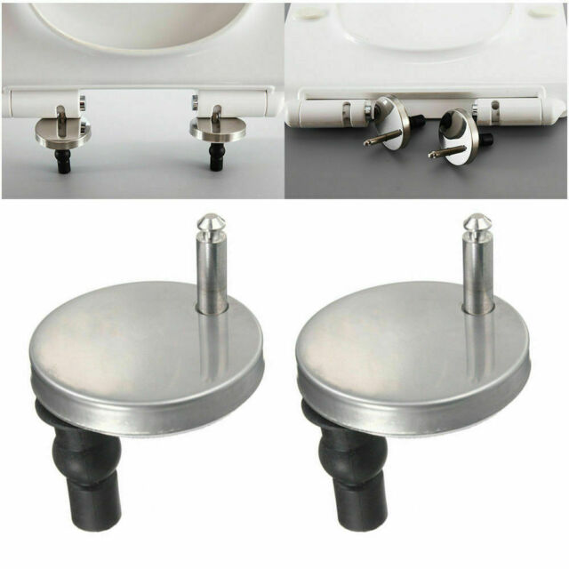 2 Universal WC Sitz Scharnier für Klo Befestigungsset Edelstahl Toilettendeckel