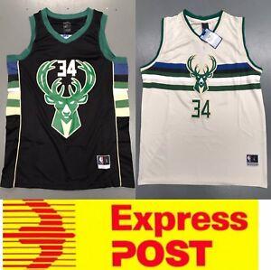 quality design aa2db e8b52 Details about Milwaukee Bucks #34 Giannis Antetokounmpo jerseys, black or  cream color