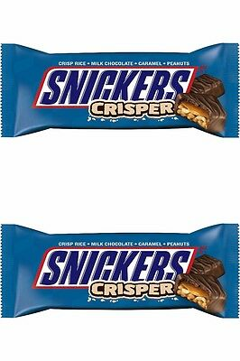 2 x Snickers Crispier 1.41oz from American Goodies USA Import Free UK Delivery