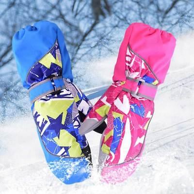 Children Winter Warm Waterproof Kids Mittens Ski Snowboard Gloves XS Rose #ur