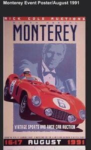 1991 Ferrari Monterey Event Rick Cole Auction Extremely Rare Car Poster Own It Ebay