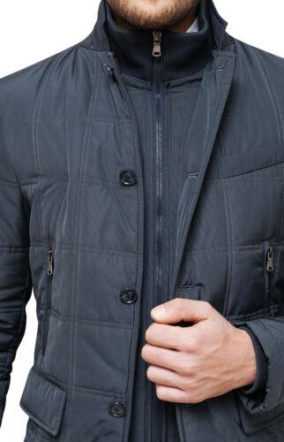 Jacket mens quilted jacket Diamond sartoriale grey overcoat trench winter