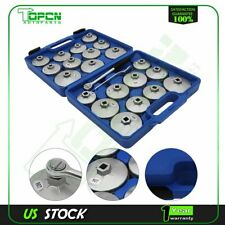 Cup Type Aluminium Oil Filter Wrench Removal Socket Remover Tool Kit 23pcs