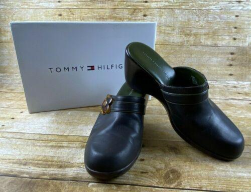 Tommy Hilfiger Hydrangea Dark Brown Mule Wedges C… - image 1