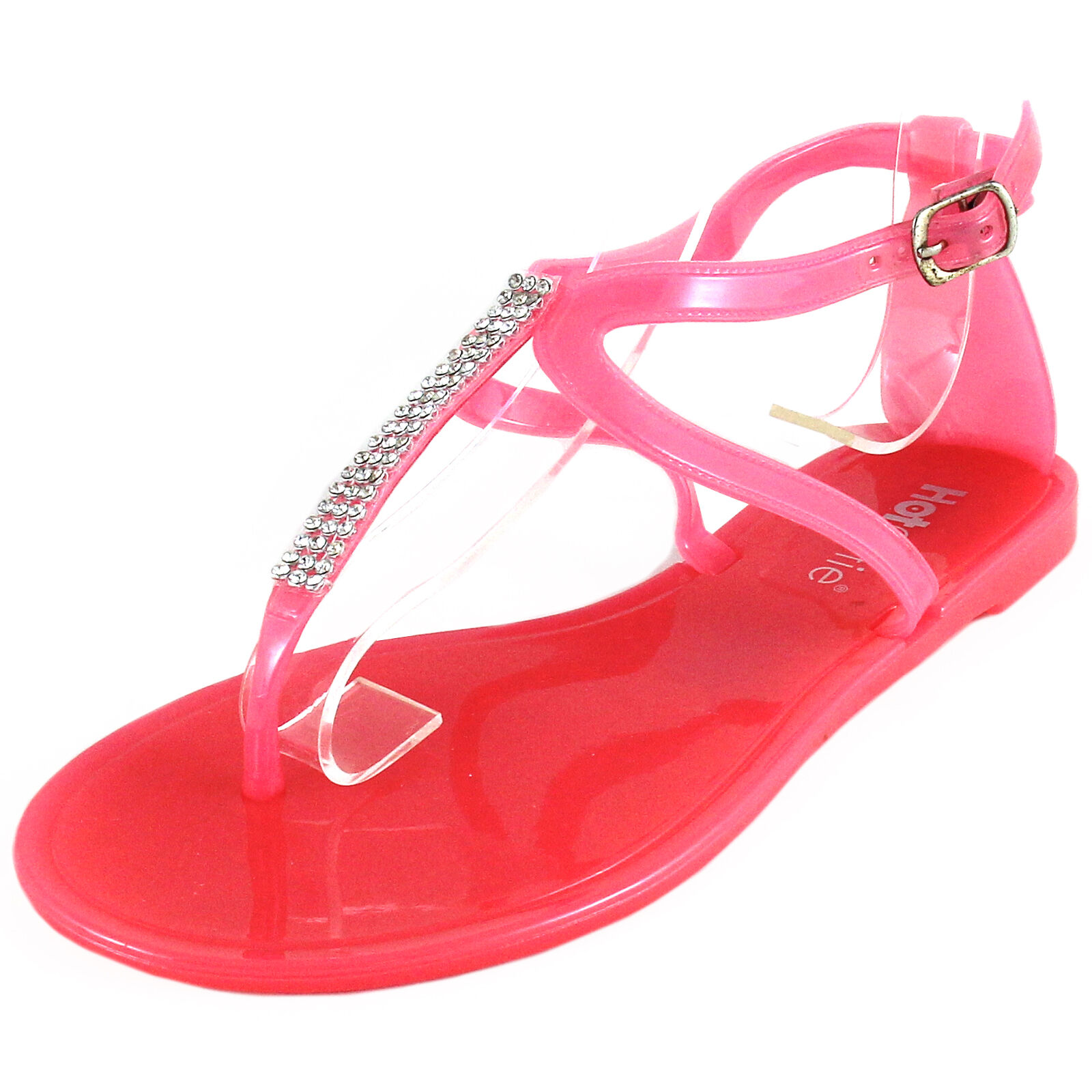 New sandals women's shoes fashion jelly sandals New t strap open toe casual summer coral e114be