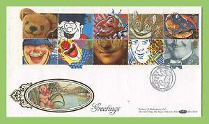 Conjunto-de-Graham-Brown-1991-saludos-en-primer-dia-cubierta-de-seda-Benham-Ironbridge