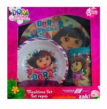 Dora the Explorer Mealtime Dinnerware Set Includes Plate Bowl and Cup-New!  sc 1 st  eBay & Dora The Explorer Mealtime Set Plus Water Bottle Plate Bowl Cup ...