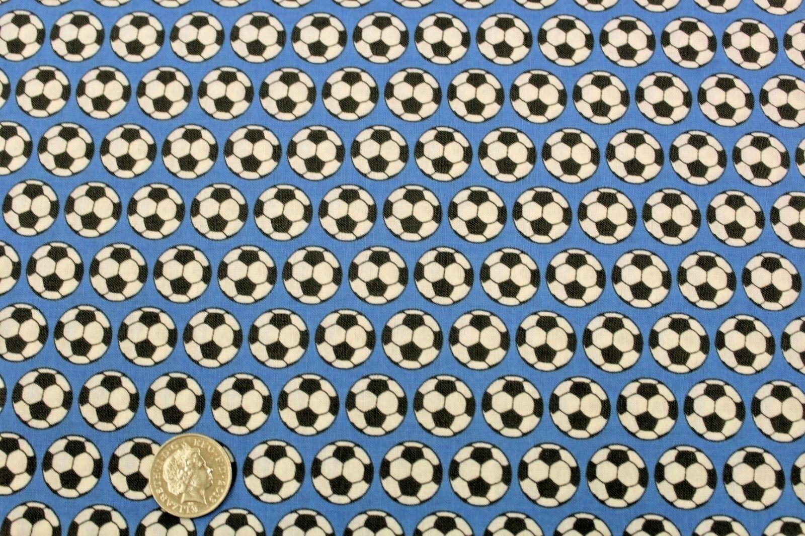 "2 Colour Ranges 100/% Premium Quilting Cotton Football Goal Trophy Stars,44/"""