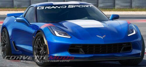 Grand Sport Script Windshield Decal C7 Corvette 2017 Color Selection
