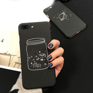 save off 9db91 2613e Details about Cartoon Wish Bottle Space Planet Moon Phone Case Cover for  iPhone 8 6 7 S Plus X