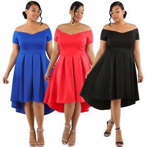 0b9a5c25fd6c Formal Evening Party Plus Size Off Shoulder Swing High Low Pleated ...