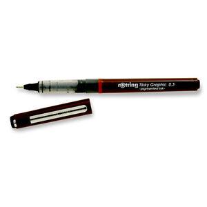 rotring tikky graphic felt tip pen 30 black 3501170814758 ebay. Black Bedroom Furniture Sets. Home Design Ideas