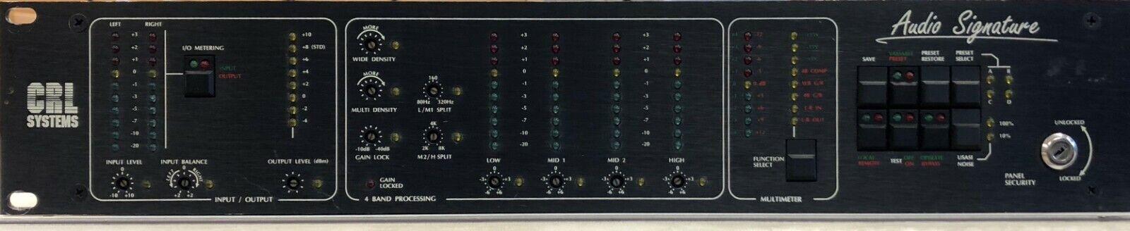 Firma de audio del sistema CRL