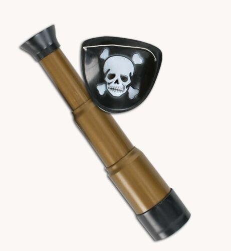 2-tlg Piraten-Set Augenklappe Fernglas Pirat Kostüm Spielset 129347313