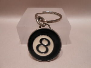 Ahlers-Designs-Cast-Pewter-Key-Ring-Magic-Eight-Ball-Emblem