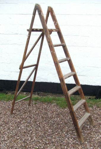 Vintage Pine 6ft Step Ladders for strippingpaintinginterior decor