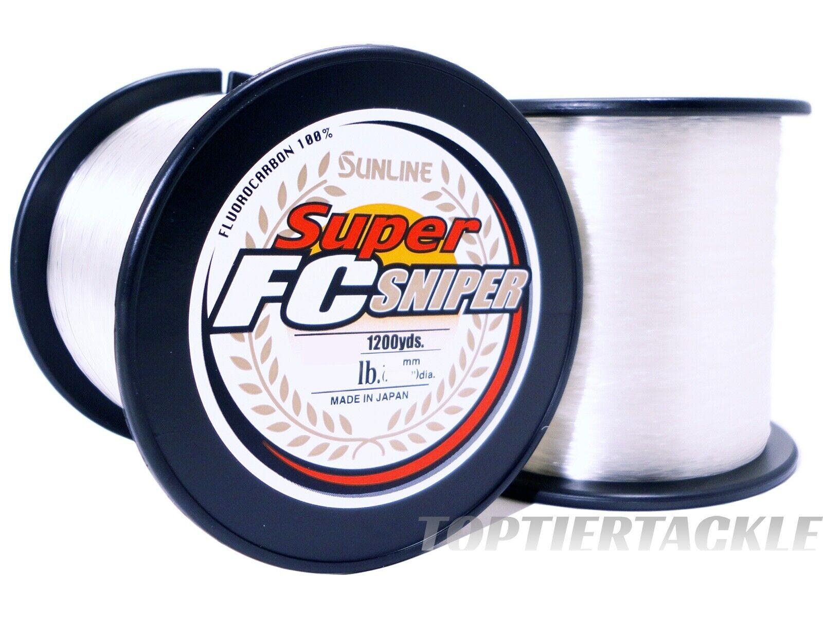 Sunline Super FC Sniper FluGoldcarbon 1200 Yard  Spool - Select Lb. Test