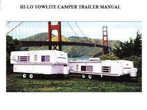 hi lo 1990 2001 motorhome manuals 430pg for towlite rv 1999 2000 rh ebay com Travel Trailer Repair Shops Travel Trailer Renovation