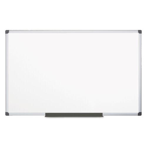 MasterVision Value Melamine Dry Erase Board 48 x 96 White Aluminum Frame