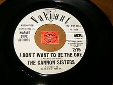 THE CANNON SISTERS - SECOND BEST - I DON'T WANT TO BE    - LISTEN - GIRL POPCORN