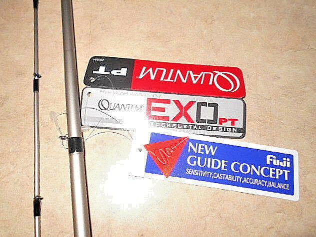 QUANTUM 7 ft..PT EXO EX4CARBON ROD BLANK. W  MICRO ALCONITE FUJI GUIDES CAST ROD