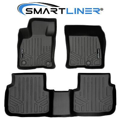 SMARTLINER Custom Fit Floor Mats 2 Rows and Cargo Liner Set Black for 2013-2019 Ford Escape