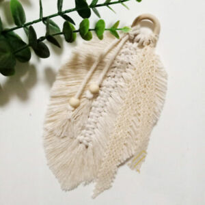 Macrame-Home-Feathered-Charm-Wall-Hanging-Boho-Decor-Hand-woven-Tapestr-ih