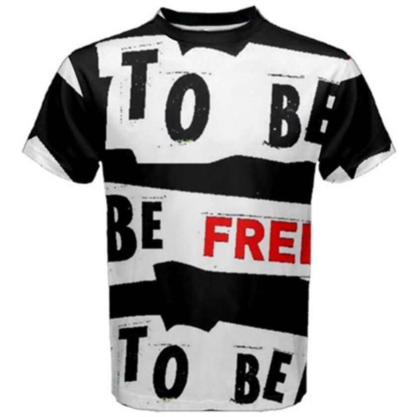 BE FREE Exclusive,Original Designer mens SHORT sleeve tee Size L-42 chest