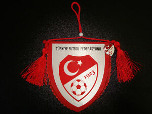 pin Badge Soccer Fahne Considerate Turkish Football Federation Pennant 3.9'x3.5' Flag Fan Apparel & Souvenirs