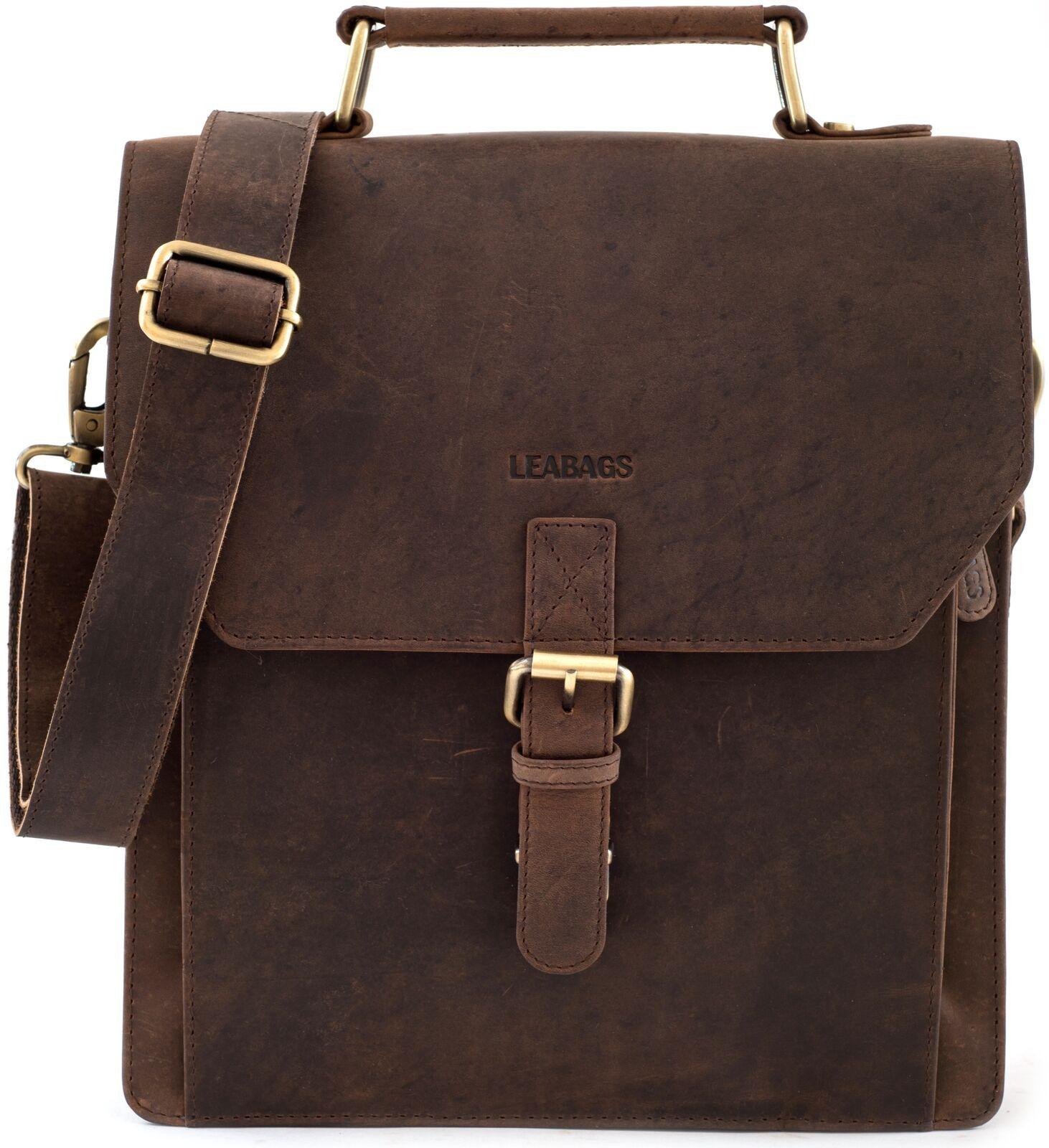 LEABAGS Netanya  Aktentasche aus echtem Büffel-Leder im Vintage Look   Economy    Bekannt für seine gute Qualität    Shop