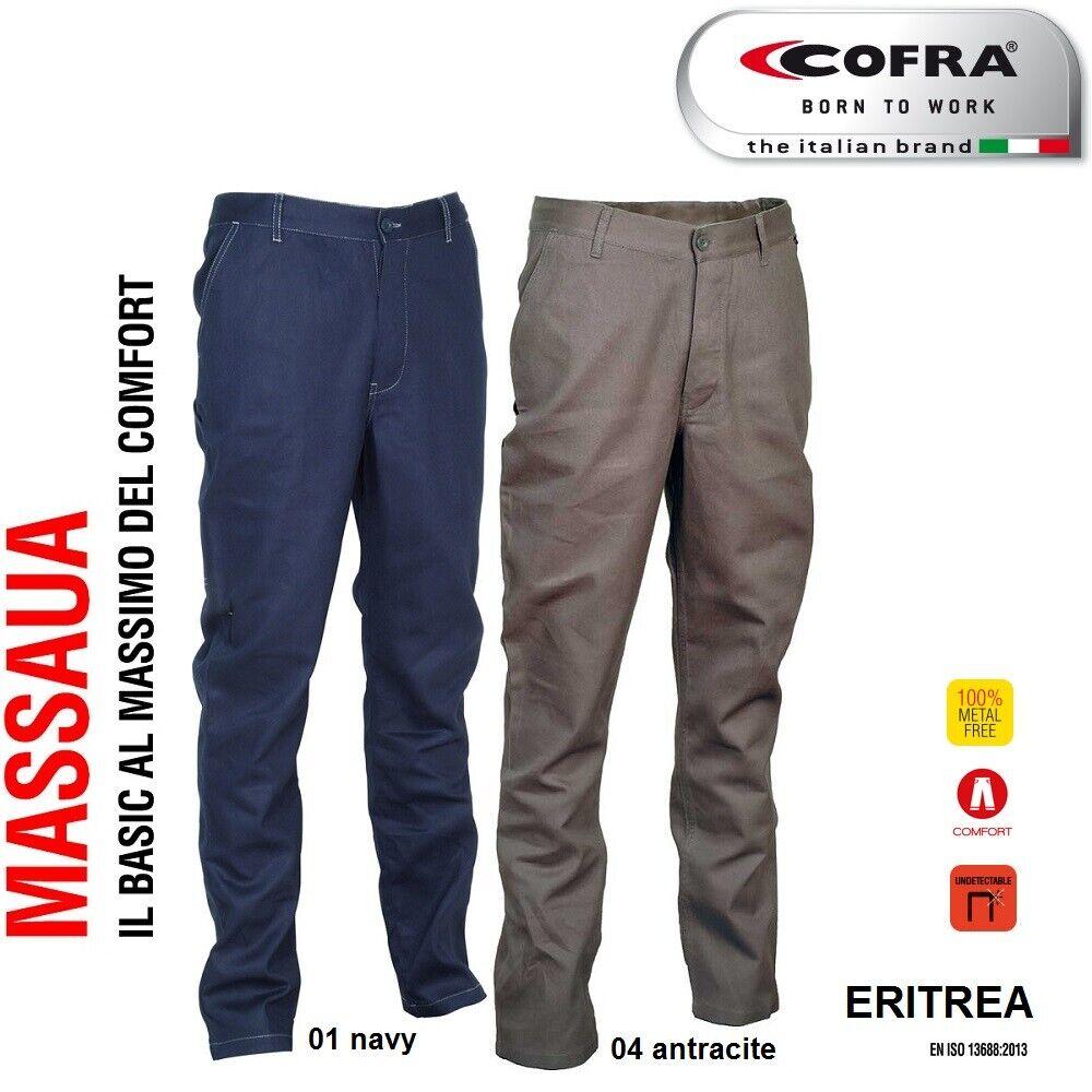 Immagine 01 - Pantaloni da lavoro COFRA modello ERITREA 100% cotone 270 g/m² industria logist