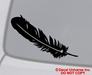 FEATHER Vinyl Decal Car Window Wall Bumper Laptop Native American Indian Symbol