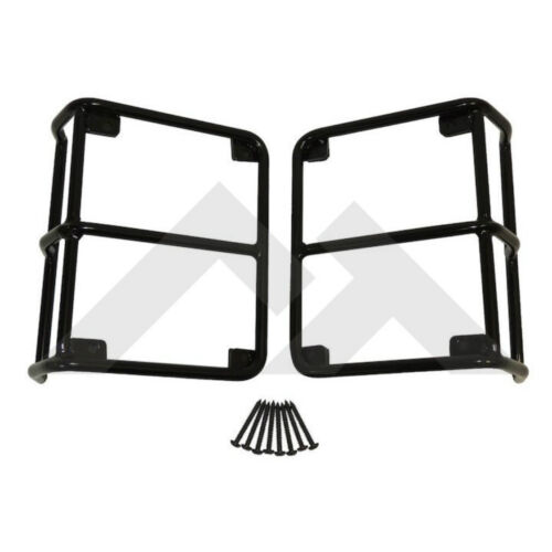 Euro Tail Lamp Guards Black for Jeep Wrangler JK 2007-2018 Rough Trail