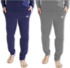 Harvey Miller Pyjamahose Herren Schlafhose Homewear Baumwolle Grau Blau