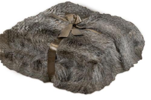 Felldecke Bärenpelz Braun Kuscheldecke Wohndecke Überwurfsdecke Fell 130x150