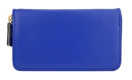 Ella Jonte Geldbörse blau mit Rundum Zipper und goldener Krone Portmonaie neu