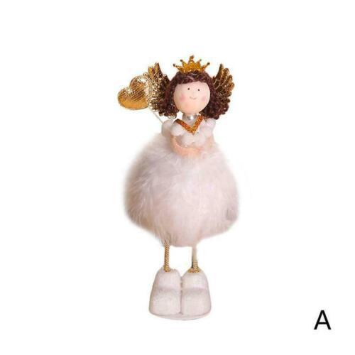 Christmas Angel Doll Toy Xmas Tree Decal Ornament Desktop Room Supplies Dec M0Y3
