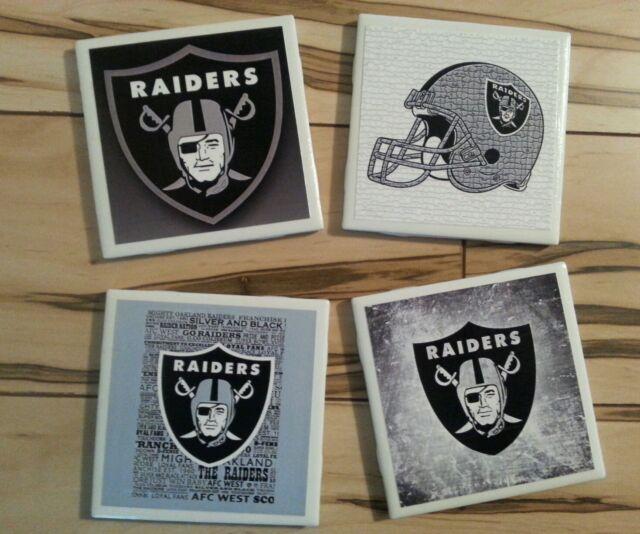 Oakland Raiders ceramic coasters (set of 4)
