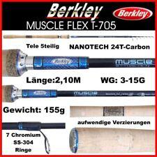 Berkley Muscle Flex Profi Nanotech IM-8 Tele Spinnrute 2,10M 5-20g /& Klettband