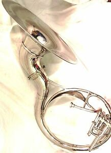 """BRASS FINISH BRASS SOUSAPHONE 22/"""" WITH FREE MOUTH PIECE BAG"""