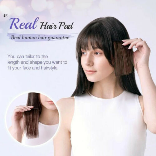 Women Hair Piece Topper Hairpiece Clip-on Hair Top Wig Toupee Thinning Hair CA