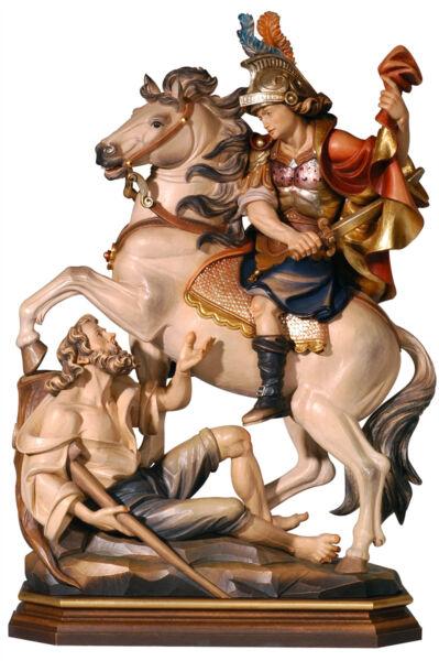 Miele Saint Martin On Horse Statue Wood Carved