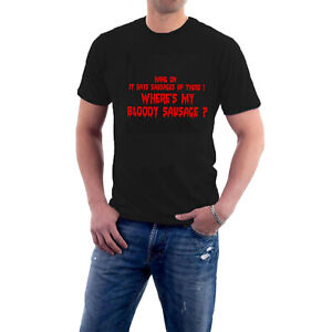 BAD NEWS TOUR T-shirt SAUSAGES Heavy Metal Comic Strip Comedy Tee by Sillytees