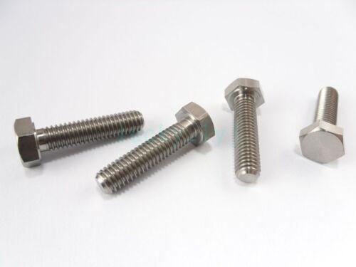 Titanium Bolts M6 x 10,15,20,25,30mm Length Ti Hex Head Screw Fastener Grade 5