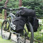 ROSWHEEL 3 in 1 MTB Mountain Bike Bag Bicycle Pannier Rear Seat Trunk Bag Black