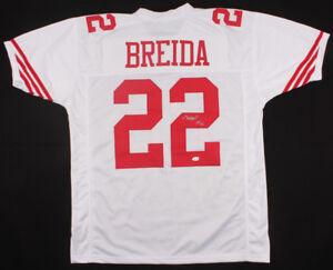 best sneakers 9d33e dcfa4 Details about Matt Breida Signed 49ers Jersey (TSE COA) San Francisco 2nd  year Running Back