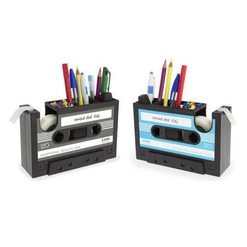 Cassette Tape Dispenser Pen Holder Vase Pencil Pot Stationery Desk Tidy Con A5E3